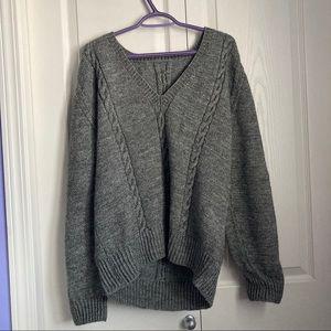 Vintage handmade grey knit sweater